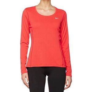 Nike Red Dri-Fit Long Sleeve